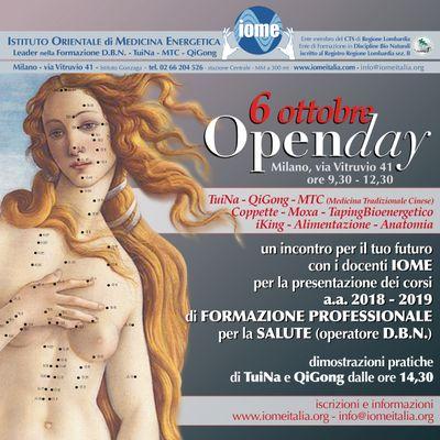 open day iome  6 ottobre 2018+ tuina+corso+qigong+massaggio+scuola