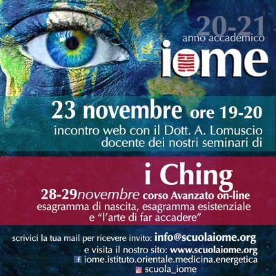 corso Iching+tuina+qigong+medicina cinese